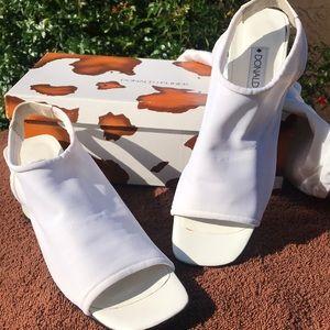 Donald j Pliner white mesh shoes